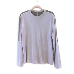 LULULEMON Men's Gray crew neck long sleeve t-shirt